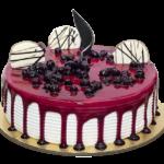 Fondant-Fountain-Blue-Berry-Cake