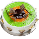 Fondant-Fountain-Kiwi-Cake