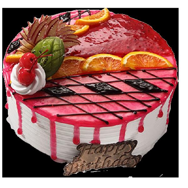 Fondant-Fountain-Strawberry-Cake