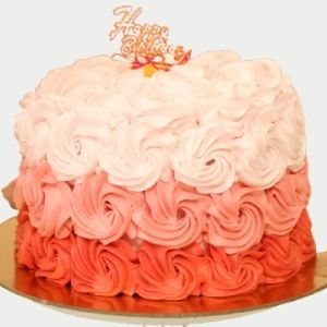 Fondant Fountain birthday cakes 1